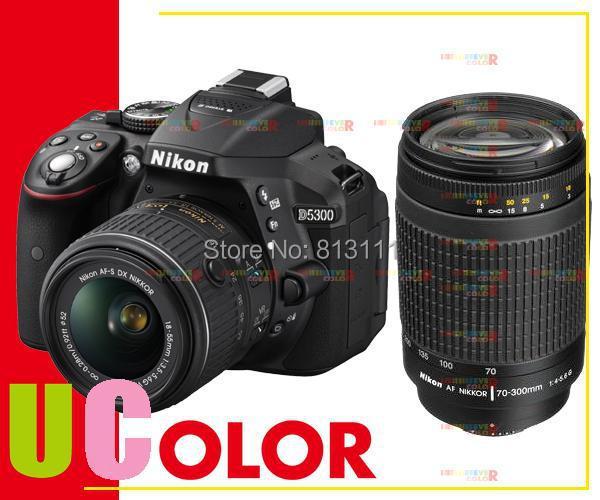 New Nikon D5300 Digital Camera Body & Nikkor AF-S 18-55mm VR II Lens & AF Zoom Nikkor 70-300mm f/4-5.6G Lens new nikon d5500 digital slr camera body with nikon af s dx 18 55mm f 3 5 5 6g vr ii lens