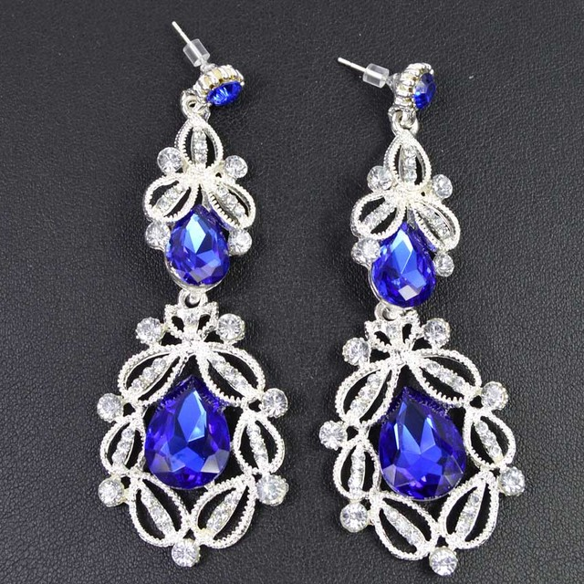 Women Vintage Crystal Drop Earrings 9 Colors