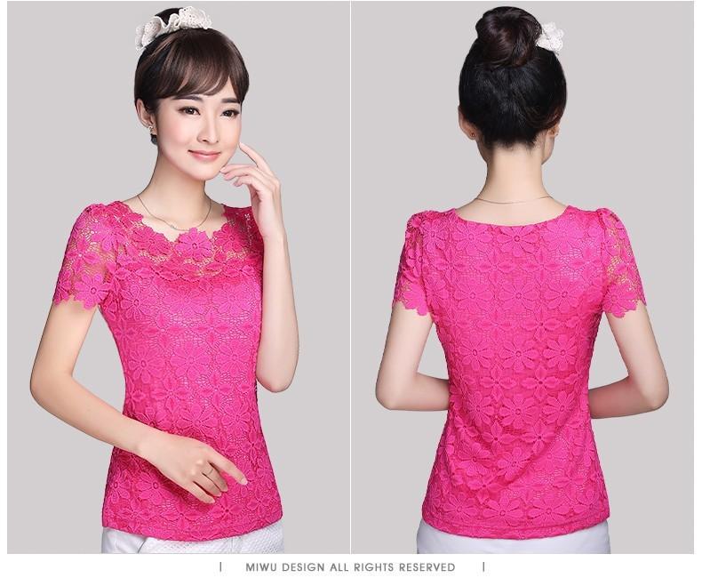 HTB12bonHXXXXXbAXFXXq6xXFXXX2 - Short Sleeve Tee Shirt Top Clothing Lace Blouse Sexy Floral