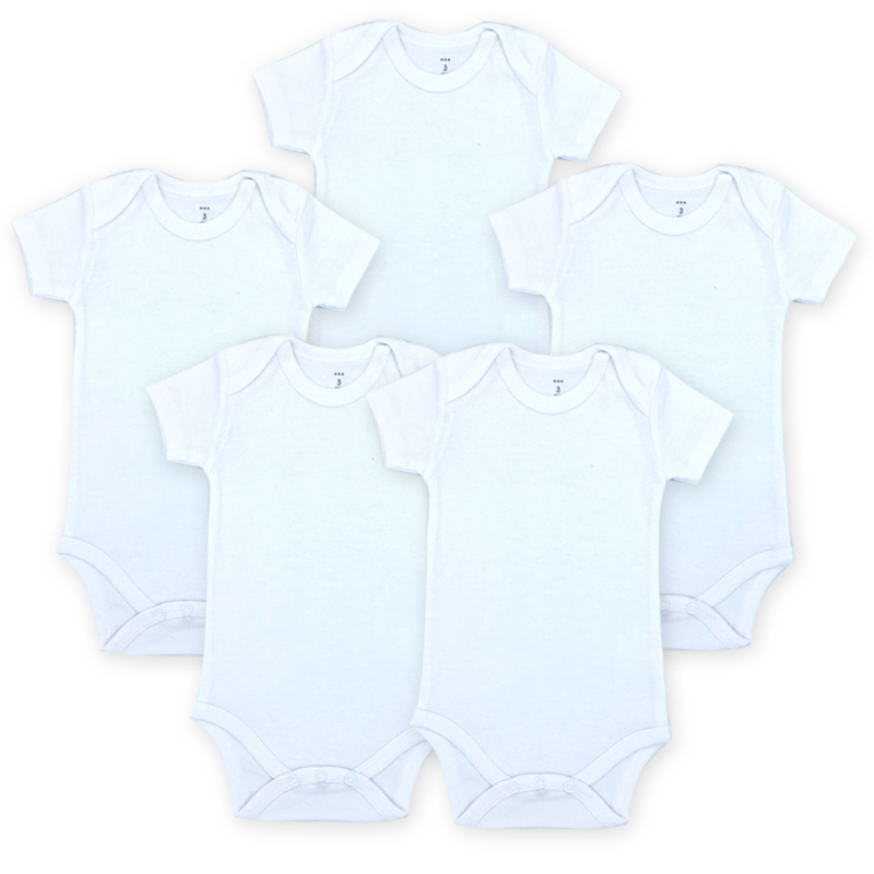 Baby Bodysuits Newborn Clothes Body Bebe Short Sleeve White Summer Brand New Infant Jumpsuit Girl Boys 5PCS Next Baby Clothes
