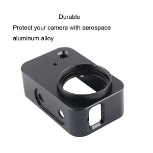 Image 5 - Custodia protettiva JINSERTA in alluminio CNC per Xiaomi Mijia Mini 4K Camera con filtro UV 37mm + protezione copriobiettivo a vite