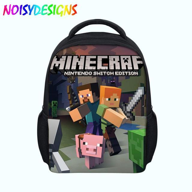 Minecraft Toys Backpack Boys Girls School Supplies Orthopedic schoolbag For  Kids plecak Drop shipping Mochila notebook pouch da09a22c4e45d