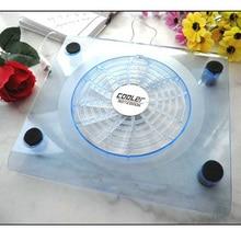 Big fan transparent laptop cooling pad cooling base blu ray mute(China (Mainland))