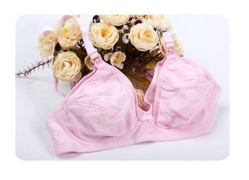 0f10ed7092 ... Cotton Maternity Bra Stage Wireless Nursing Bra Front Opening Buckle  Full Cup Breast Feeding Bra Underwear ...
