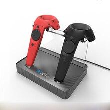 Controlador inalámbrico carga de adsorción magnética doble estación de carga para HTC vive VR controlador doble manejar carga