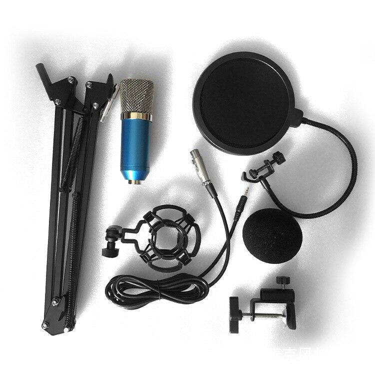 Professionnel bm700 Microphone a Condensateur pour ordinateur Audio Studio Vocal Enregistrement Mic KTV Karaoke Microphone stand