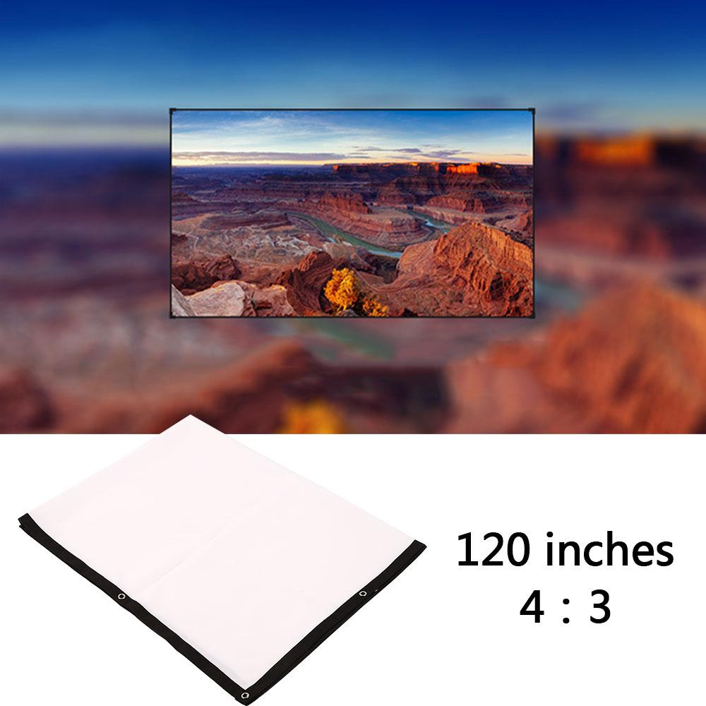 Portable Foldable 120 inch 4:3 Projector White Projection Screen For HD Projector Home Cinema Theater Movie Party Indoor Outdoor