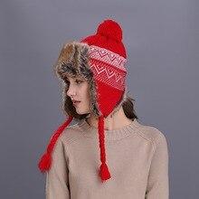 Cute Thicken Winter Hats for Men Women Unisex Warmer Earflap Cap Russian Fur Bomber Hat Girl