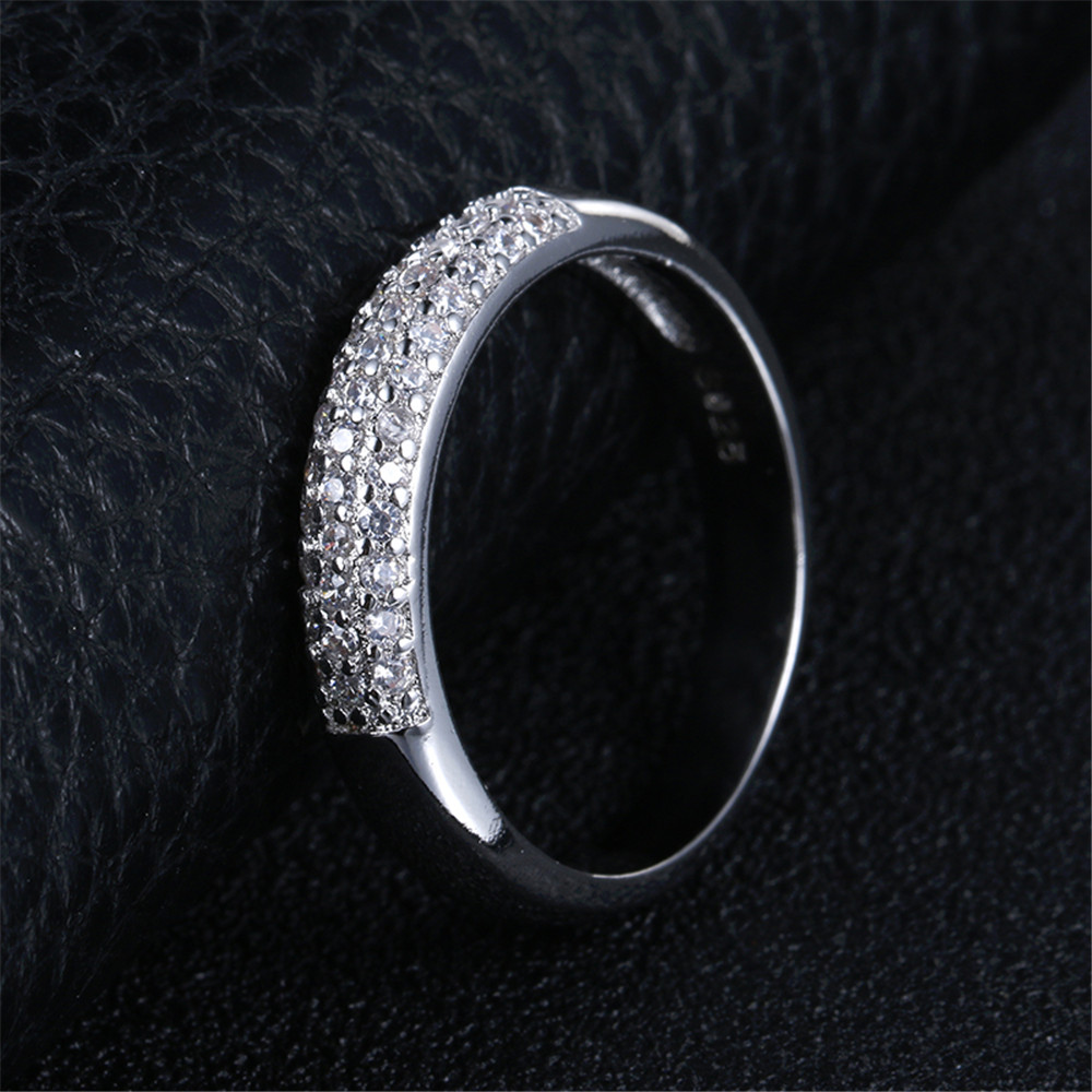 Jewelry & Access. ...  ... 32377773435 ... 5 ... DODO Luxury Full AAA Zircon Rings For Women Silver Color Band Rings Jewelry Promise Wedding Anel Statement Anillos Wholesale ...