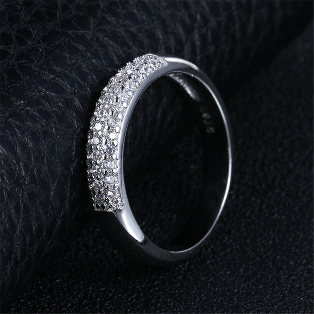 DODO AAA Zircon Rings Silver Color Band Rings Jewelry 4