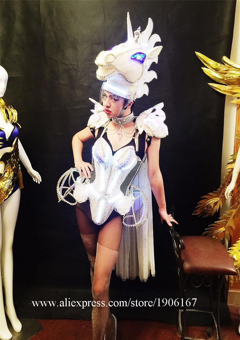 Led luminous horse costume flashing ballroom stage clothes09