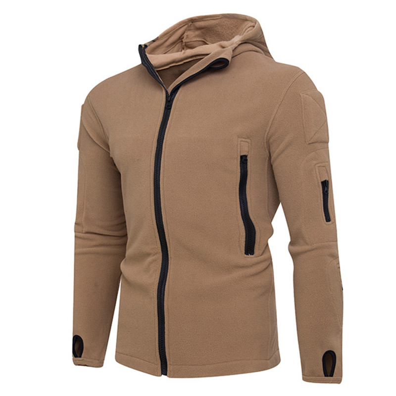 Long Sleeve Men Clothing Autumn Solid Multi Zippers Men Hooded Sweatshirts Fashion Casual Hoodies Male Sportswear Coat HD65