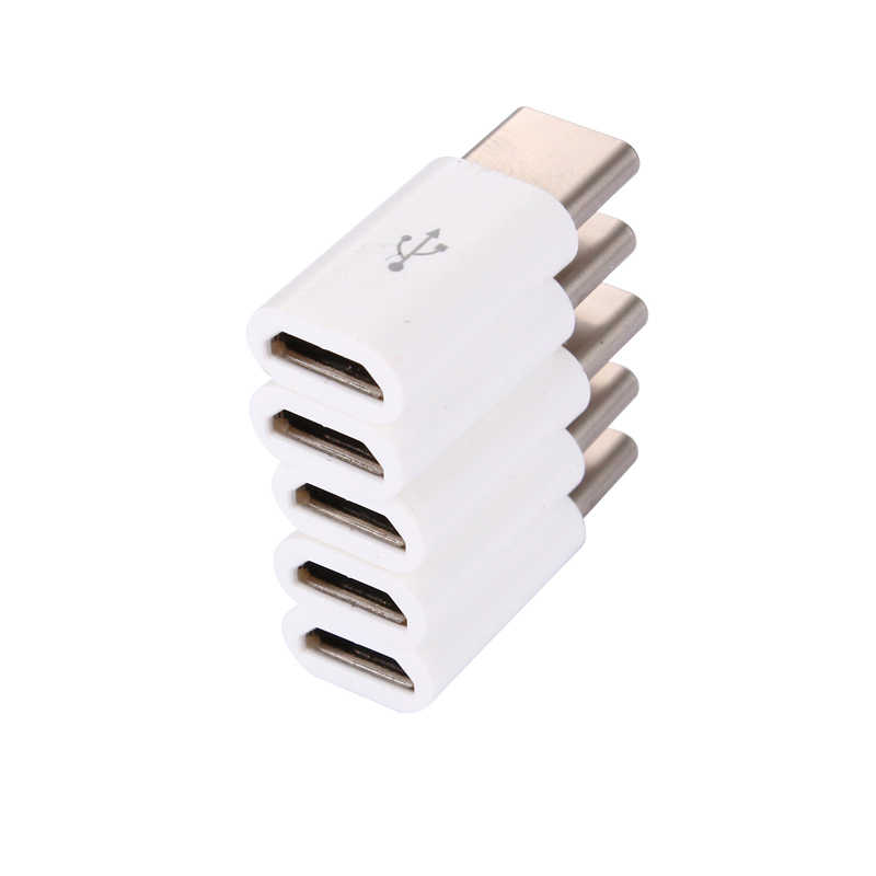 Hot sale! 1pcs USB 3.1 Type C Male to Micro USB Female Adapter Type-C Converter Connector USB-C black and white