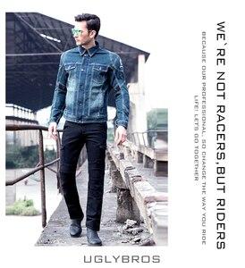 Image 4 - Mais novo quente vendas uglybros motorpool ubs06 jeans lazer calças de brim da motocicleta do exército locomotiva motor calças duas cores