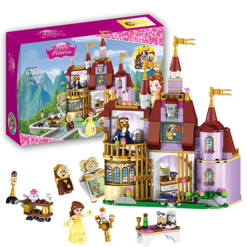 2017 New Beauty and The Beast Princess Belle's Enchanted Castle Building Blocks Girl Kids Toys Compatible with LegoINGly Friends enchanted wanderer the
