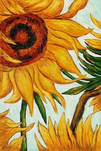 Sunflowers by Vincent Van Gogh Handpainted