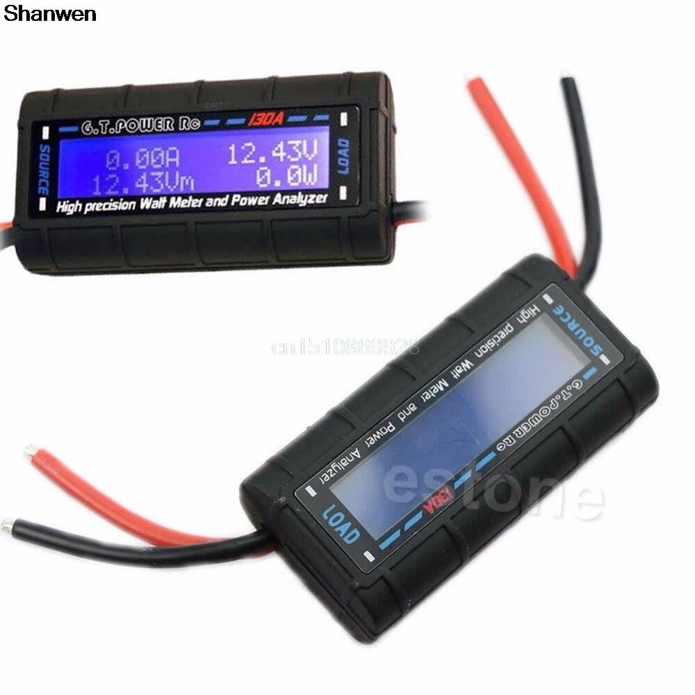 Current Power Analyzer G.T.POWER RC 130A Watt Meter and Power Analyzer High Precision LCD 60V GT-Power