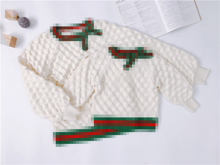 in stock 2018 retail high quality new brand baby girls sweater kids clothing white sweater long sleeve children tops outwear anne klein new jade long sleeve sequin sweater s $79 dbfl