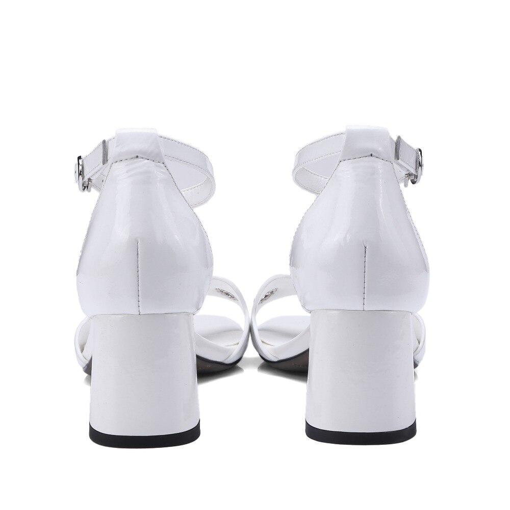 Donna Grosso Talloni Black Il Estate Donne Delle Alti Tacco Da Fibbia Libero Per Vestito Sandali Formato Tempo Di white Kickway Caviglia Scarpe Sandalo 42 Alla 34 Cinturino Degli WqZgxUn0Fw