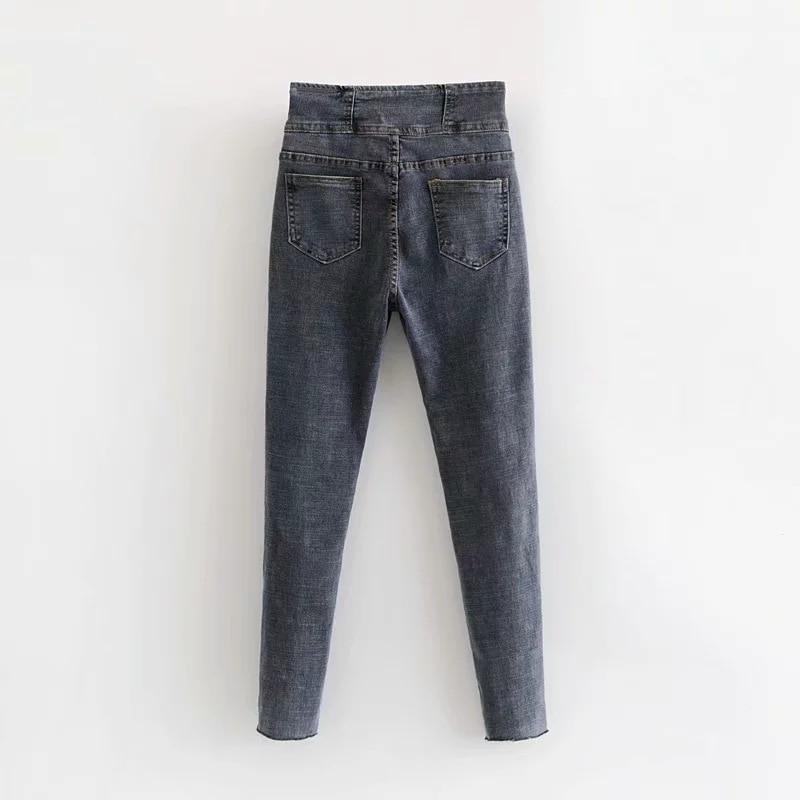 Dos Z0920t15 Jeans 7971 Red Hebillas Otoño América 2018 Chart Rojo Y See Europa Nueva rxqH8Trw