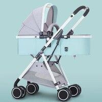Luxury Baby Stroller 2 in 1 High Landscape Pram Portable Folding baby Carriage Cheaper Baby Stroller