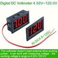 4.5V~120V Digital Voltmeter meter voltimetro Car Electromobile Motorcycle battery Voltage power supply tester electronic doctor
