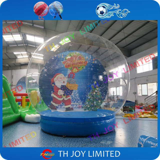 M New Design Christmas Giant Inflatable Snow Globe Cheap Huamn Snow Globe Giant