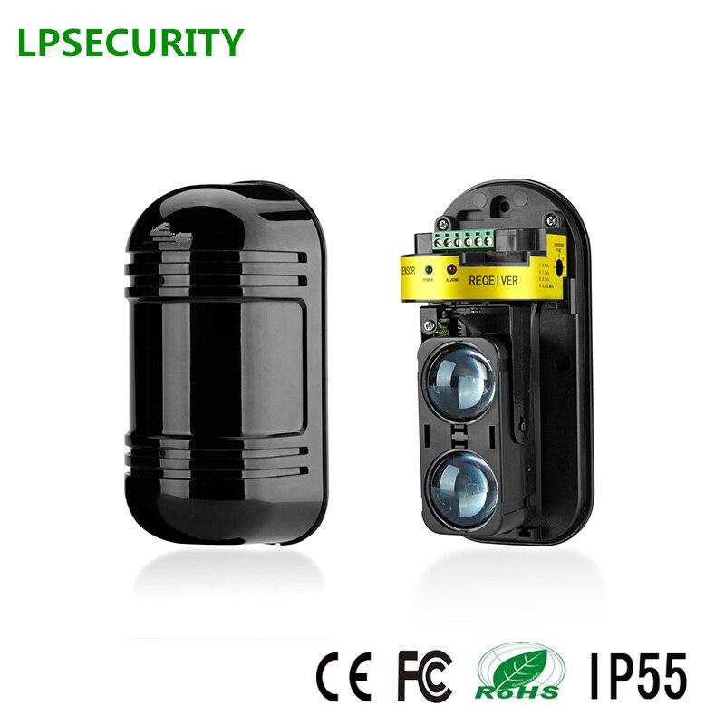 LPSECUIRTY Doppio Fascio Del Sensore A Raggi Infrarossi Attivi Rivelatore di Intrusione IR 30m ~ 150m Esterno Perimetrale Barriera Muro Recinzione per GSM di allarme