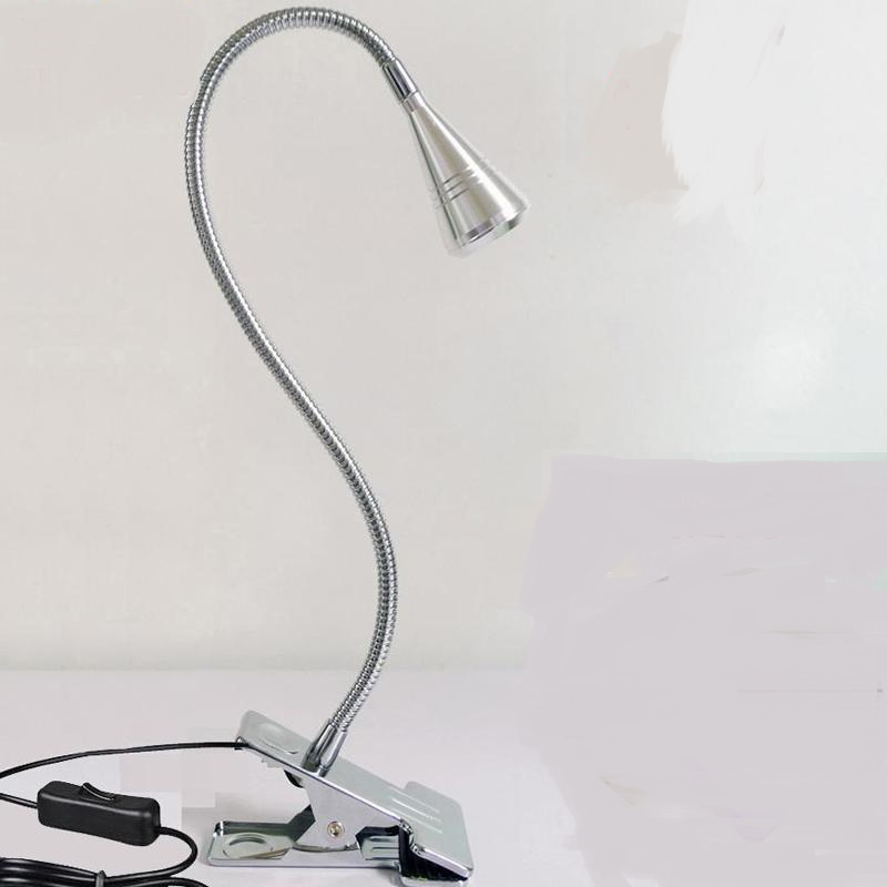A1 Universal LED small desk lamp can bend dormitory work clip lamp eye protection desk l ...