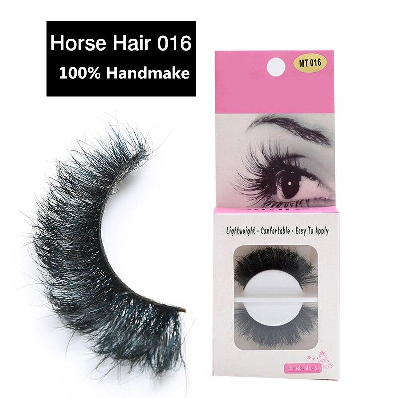 67ed385cb707 1 Pair Handmade Makeup Horse Hair Natural Messy Thick Long False Eyelashes Hot  Sale Fake Eyelashes Extension-in False Eyelashes from Beauty   Health on ...