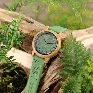 Image 5 - BOBO BIRD − montre bracelet en bambou, bracelet à Quartz, pour hommes et femmes, collection W B06