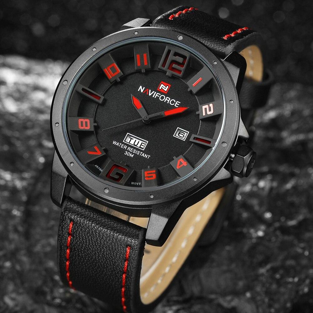 Luxury Brand NAVIFORCE Men Watch Quartz Date Military Sports Watches Men's Clock Casual Leather Wrist Watch relogio masculino 1