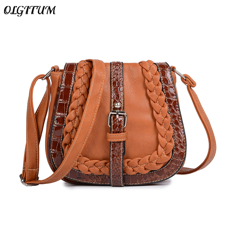 2019 Hot New Woven Bag Women Retro Messenger Bag Magnetic Hasp Zipper Fashion Shoulder Bag Boho Mini Daily Shopping Bag Tote Сумка