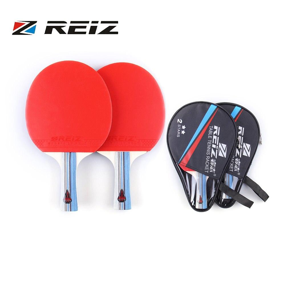 ღ ღReiz 2 estrellas Ping Pong raqueta ping pong Paddle corto o ...