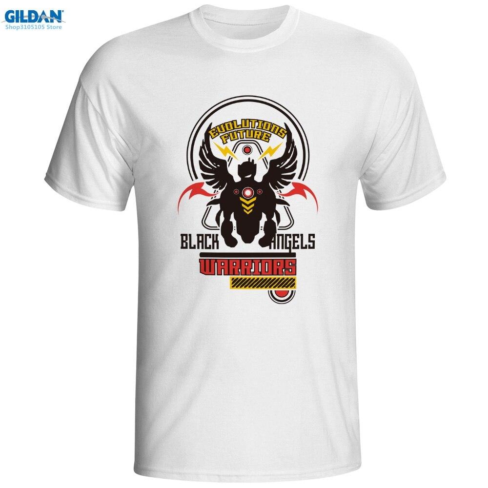 GILDAN printed short Black Angels Warrior T-shirt Skate Funny Anime O-ncek T Shirt Fashion Punk Pop Women Men Top