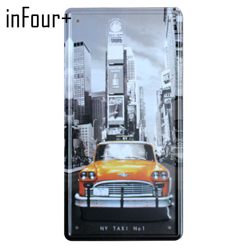 New NY TAXI NO1 License Plate Metal Plate Car Number Tin Signs Bar Pub Cafe Home Decor Metal Sign Garage Painting Plaques Signs