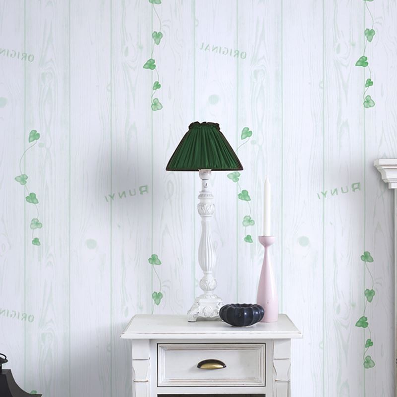 Wallpapers Pvc Self-adhesive Waterproof Wallpaper 3d Green Leaf Wood Wall Sticker Living Room Tv Sofa Bedroom Background Wall Papers Decor Fast Color