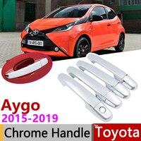 Voor Toyota Aygo MK2 2015 ~ 2019 Luxuriou Chrome Exterieur Deurgreep Cover Auto Accessoires Stickers Trim Set 2016 2017 2018-in Auto Stickers van Auto´s & Motoren op