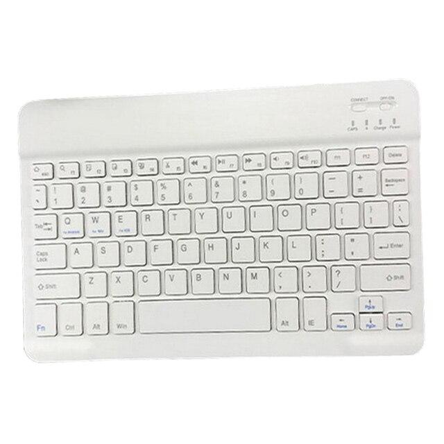 Szczupła przenośna Mini bezprzewodowa klawiatura Bluetooth na Tablet Laptop Smartphone iPad wsparcie IOS Android telefon rosyjski hiszpański