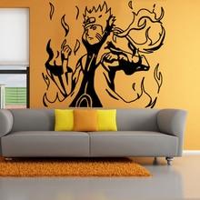 Room decoration [nine] Naruto cartoon wall stickers mode tail  free shiping