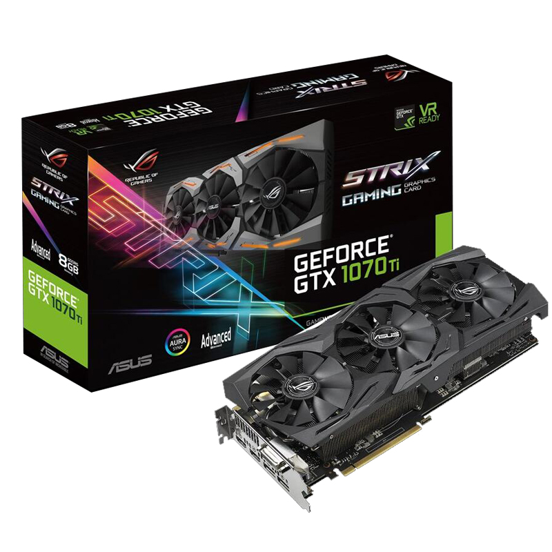 ASUS ROG STRIX GTX1070TI-A8G GAMING computer game graphics card image