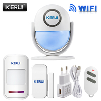 KERUI Casa WI-FI Sistema de Alarme de Segurança DIY KIT IOS/Android Smartphone App 120dB PIR Painel Principal Da Porta/janela Sensor de Alarme Do Assaltante