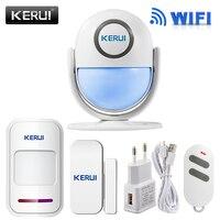 Smart Home WIFI App Control Burglar Alarm System Door PIR Motion Detector Alarm Wireless Home Led
