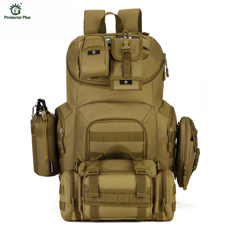 40L Waterproof Molle Backpacks Military 3P Tactics Backpack Assault Nylon Travel Bag for Men Women Mochila Escolar H88 40l molle tactics backpacks military travel waterproof pack large capacity man backpack bag camouflage army backpack j57