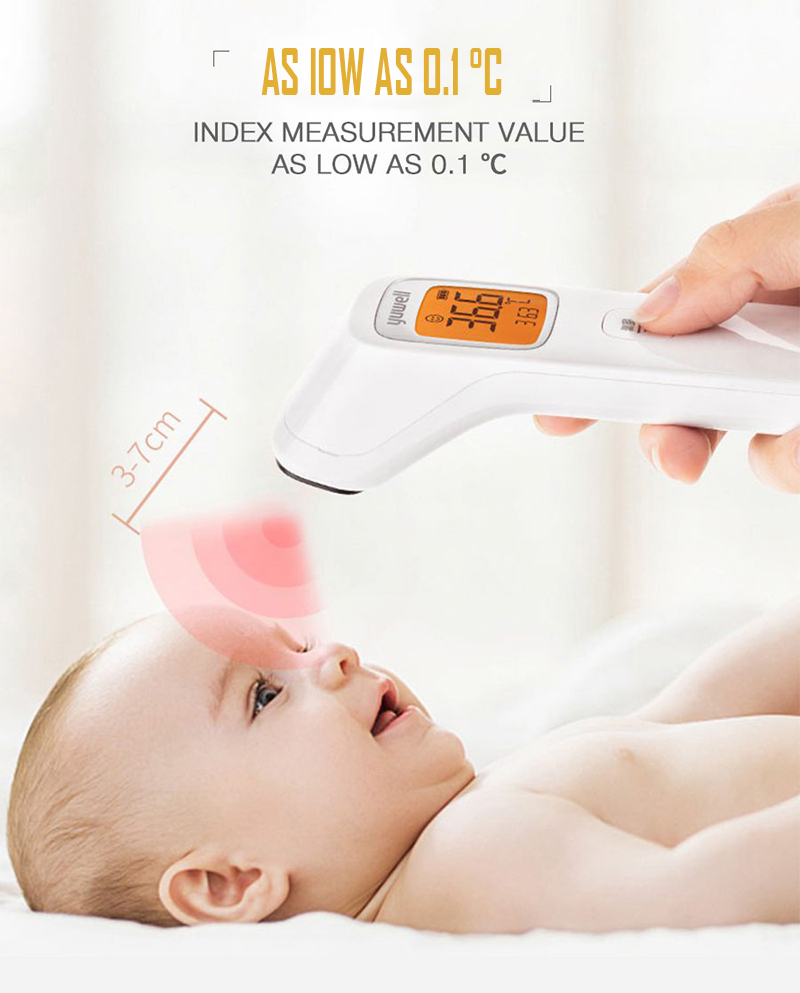 Yuwell Baby Digital Noncontact Infrared Forehead Thermometer Infrared Hydrothermograph Children Body Hermograph Accurate YHW-2-5