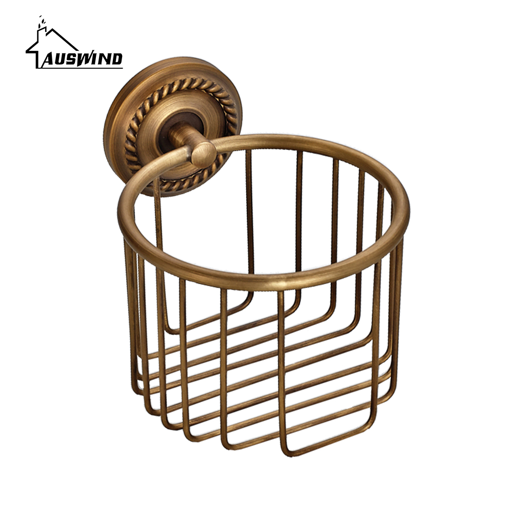 Luxury Style Bathroom Hardware Hanging Copper Antique Toilet Paper Rolls  Bathroom Hardware For Paper Storage Basket In Paper Holders From Home  Improvement ...