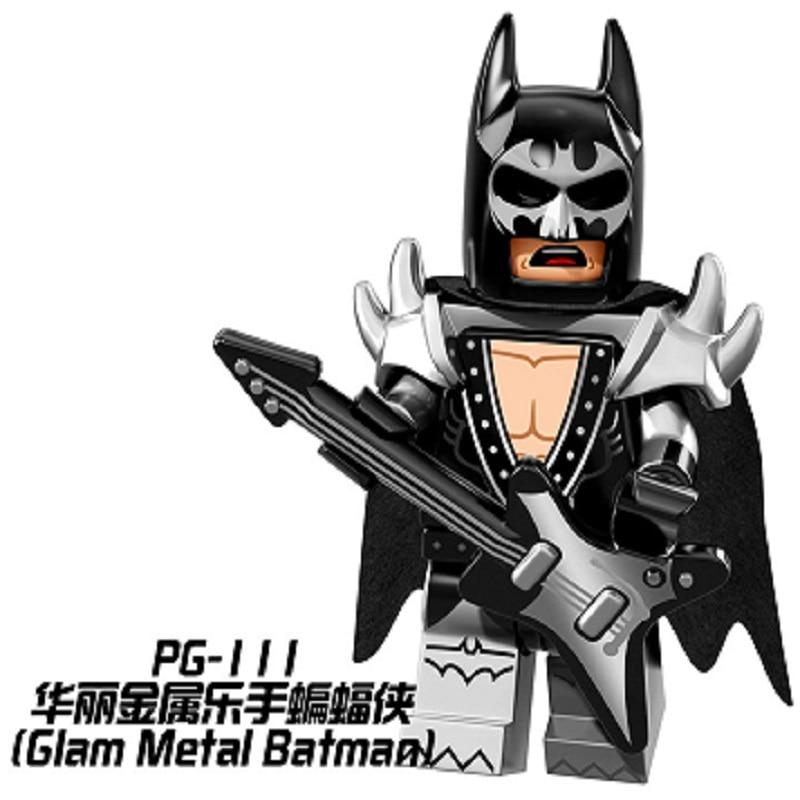 PG111 Super Hero Glam Metal Batman 2017 Batman Movie Commissioner Gordon Building Blocks Bricks Model Children Gift Toys PG8033 batman gordon of gotham