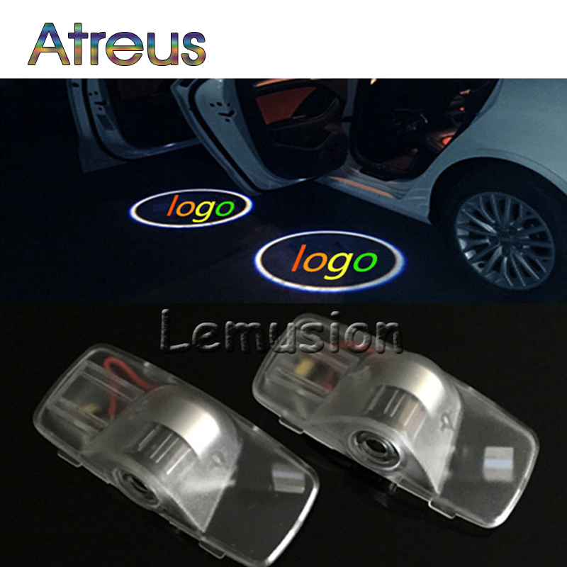 Atreus 2X LED Courtesy Lamp Car Door Welcome Light Projector Shadow Styling For <font><b>Honda</b></font> <font><b>Accord</b></font> 03-13 crosstour 10-13 <font><b>Accessories</b></font> image