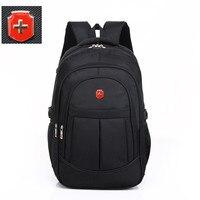 swiss 17 inch men travel waterproof bag black nylon USB charging business backpack wear waterproof laptop bag Mochila Escolar