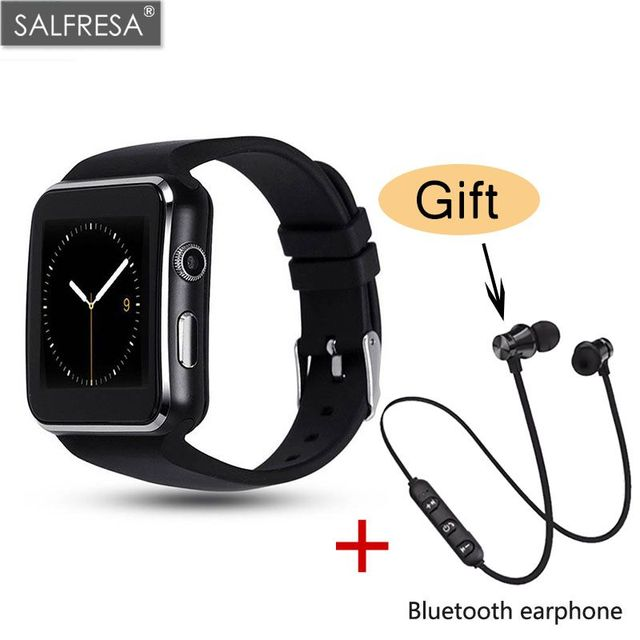 Bluetooth Smart Watch SALFRESA X6 With Camera Touch Screen Support SIM TF Card Smart Wearable Device For iPhone Android Phone